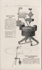 Afb. 3 - White's Posing chair in de productcatalogus van de firma W. P. Buchanan uit 1893